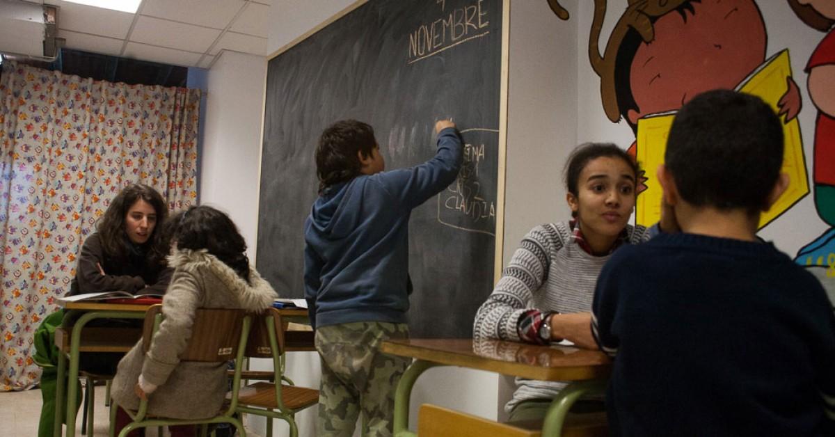 Clàudia Sorinas a l'Escola Popular de Manresa