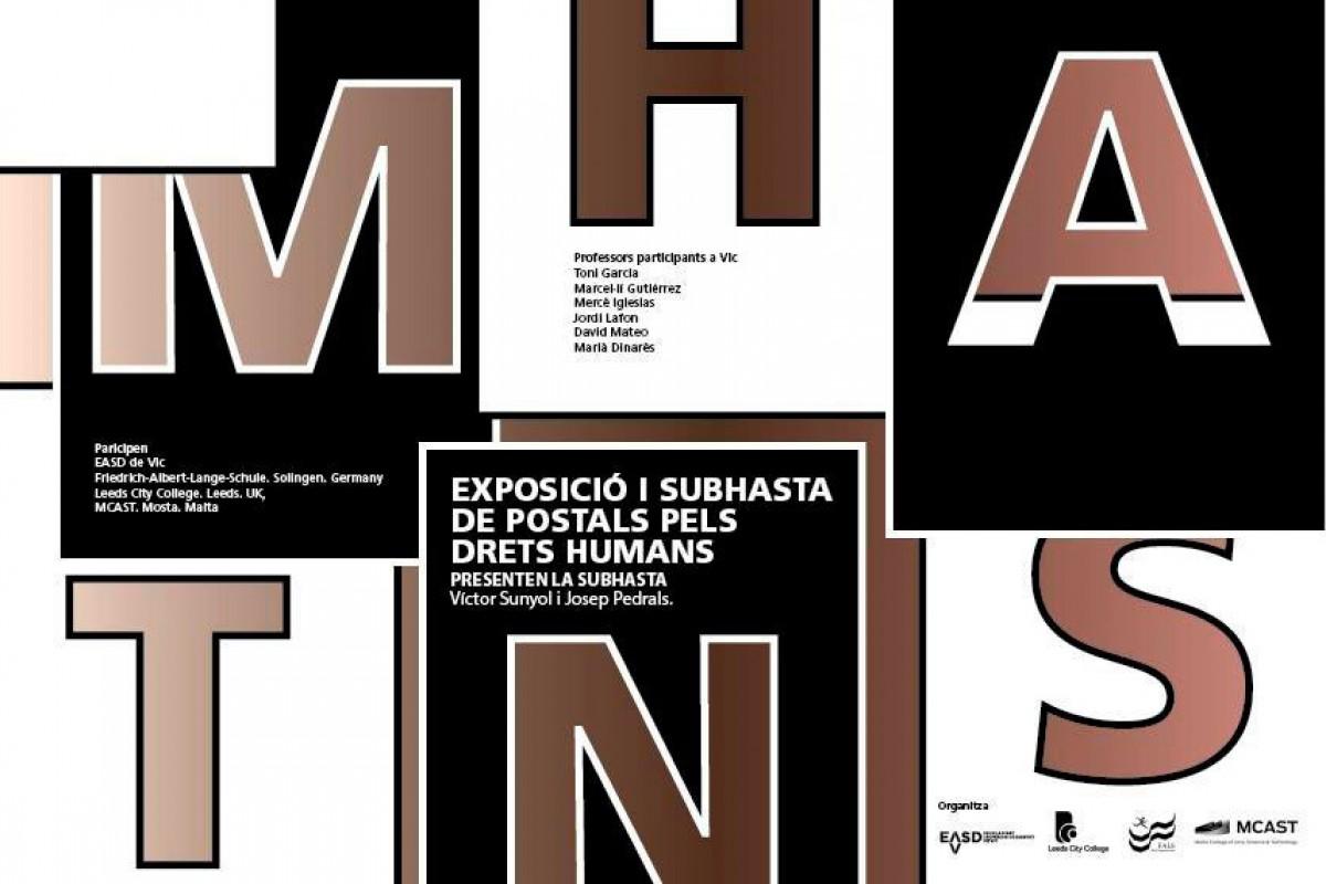Cartell de l'exposició i subhasta a El Gravat