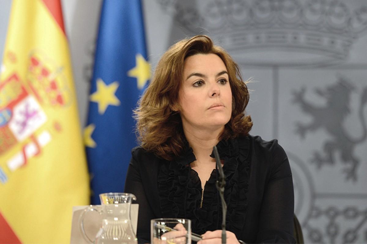Roda de premsa de Soraya Sáenz de Santamaría