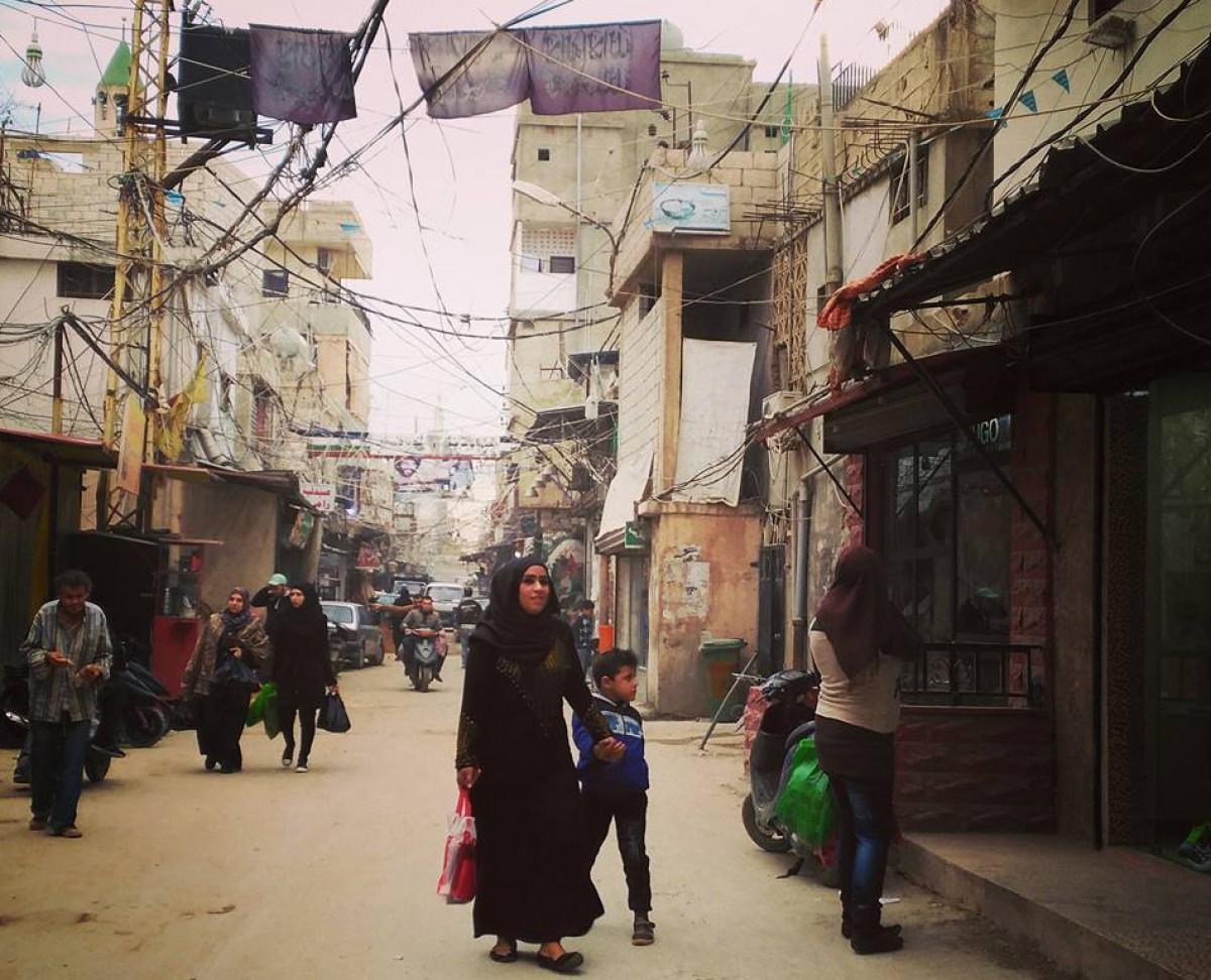 Camp de persones refugiades palestines Ein El Hilweh, al Líban
