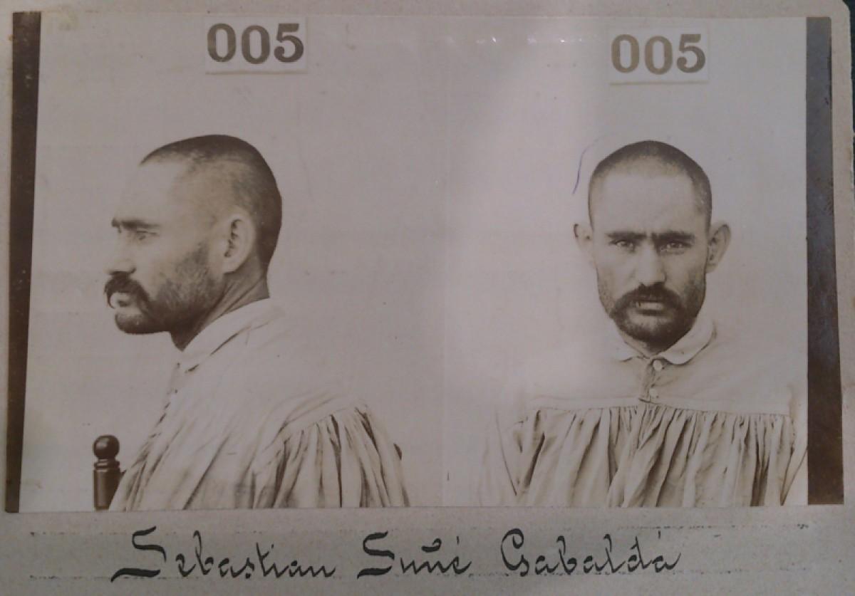 Salvador Sunyer, en una doble imatge de l'època