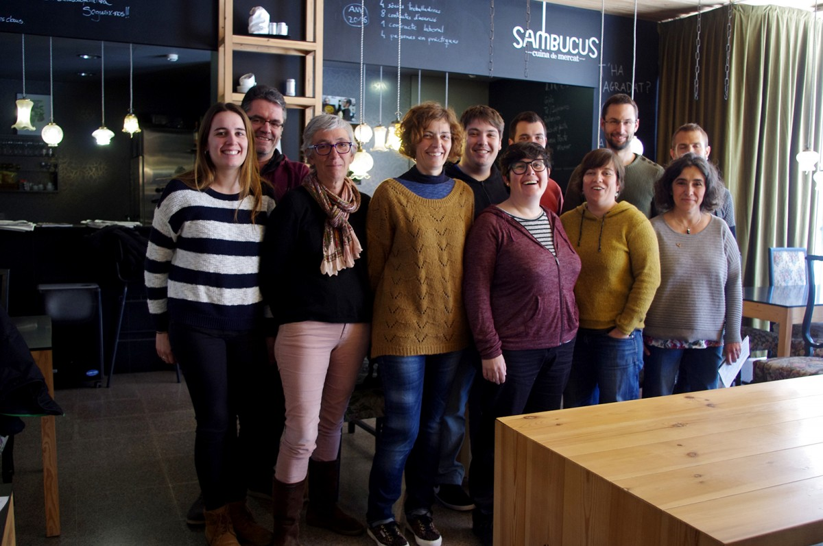 Membres de l'Ateneu Cooperatiu de la Catalunya Central, avui a Sambucus