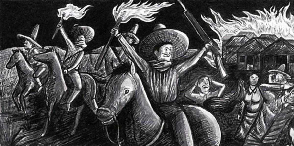 Una de les il·lustracions de Felipe Camargo a 'Rulfo'