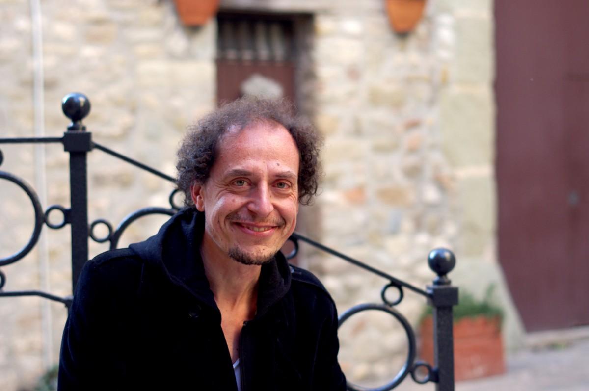 Ferran Garcia a la plaça Mont-rodon de Vic