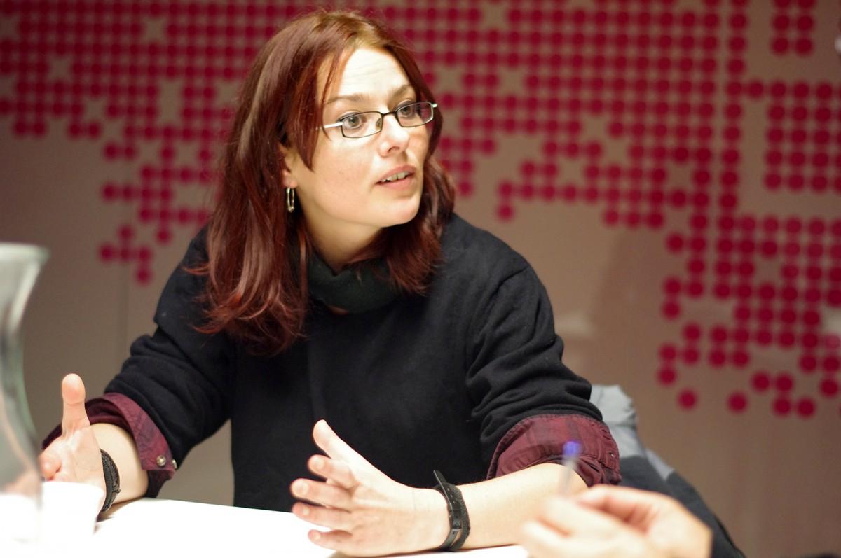 Isabel Benítez, durant l'entrevista