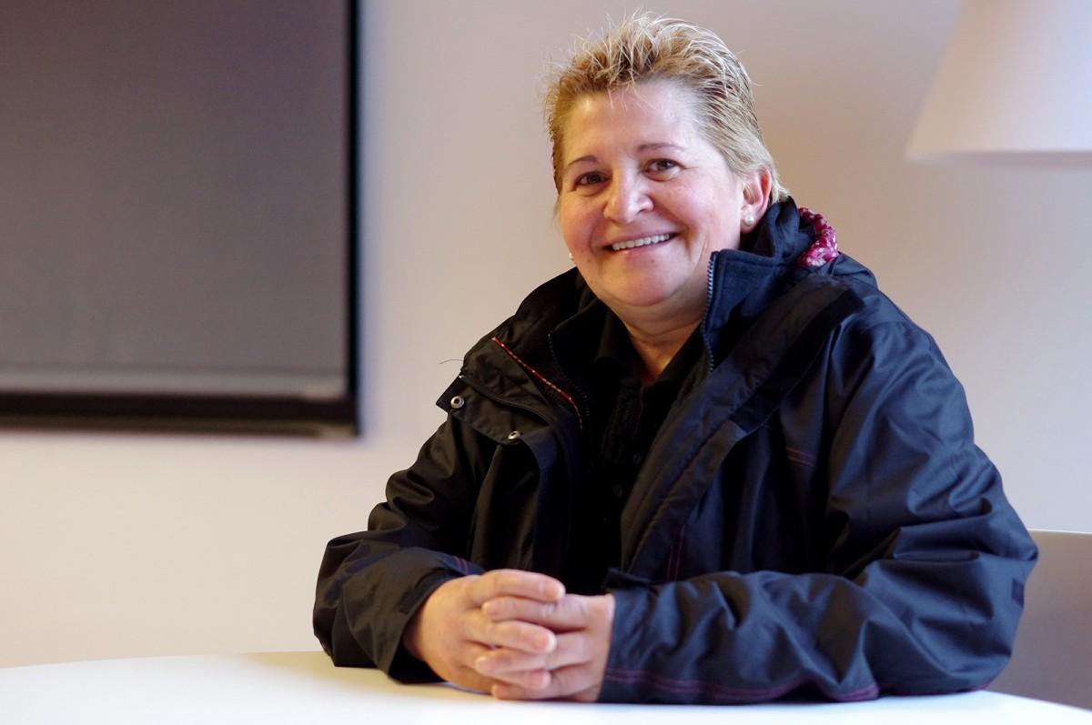 Montse Castañé, durant l'entrevista