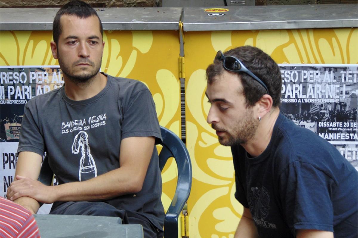 Sergi Rodríguez 'Teti' i Marc Canudas, durant l'entrevista