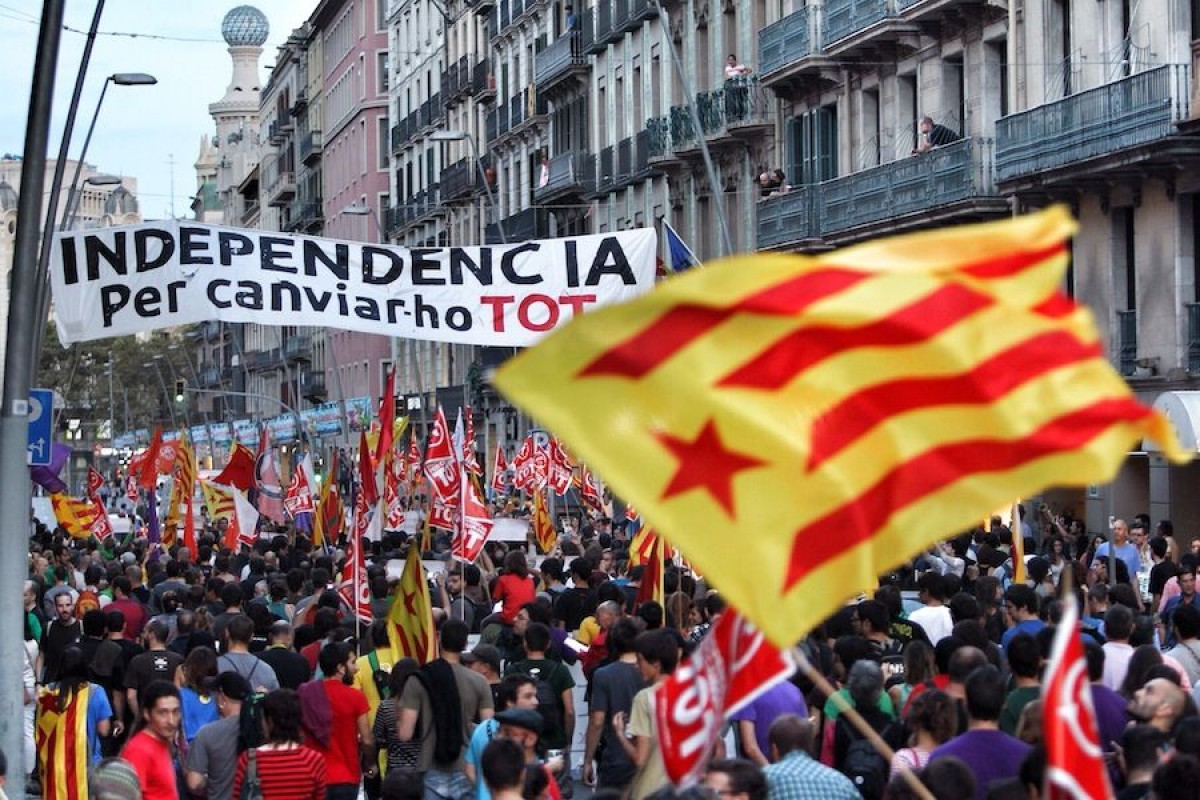 Manifestació de l'Esquerra Independentista a Barcelona l'octubre de 2013