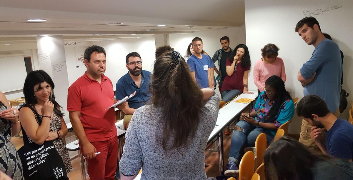 Trobada de periodisme cooperatiu a Atenes el juny passat, on va participar Setembre