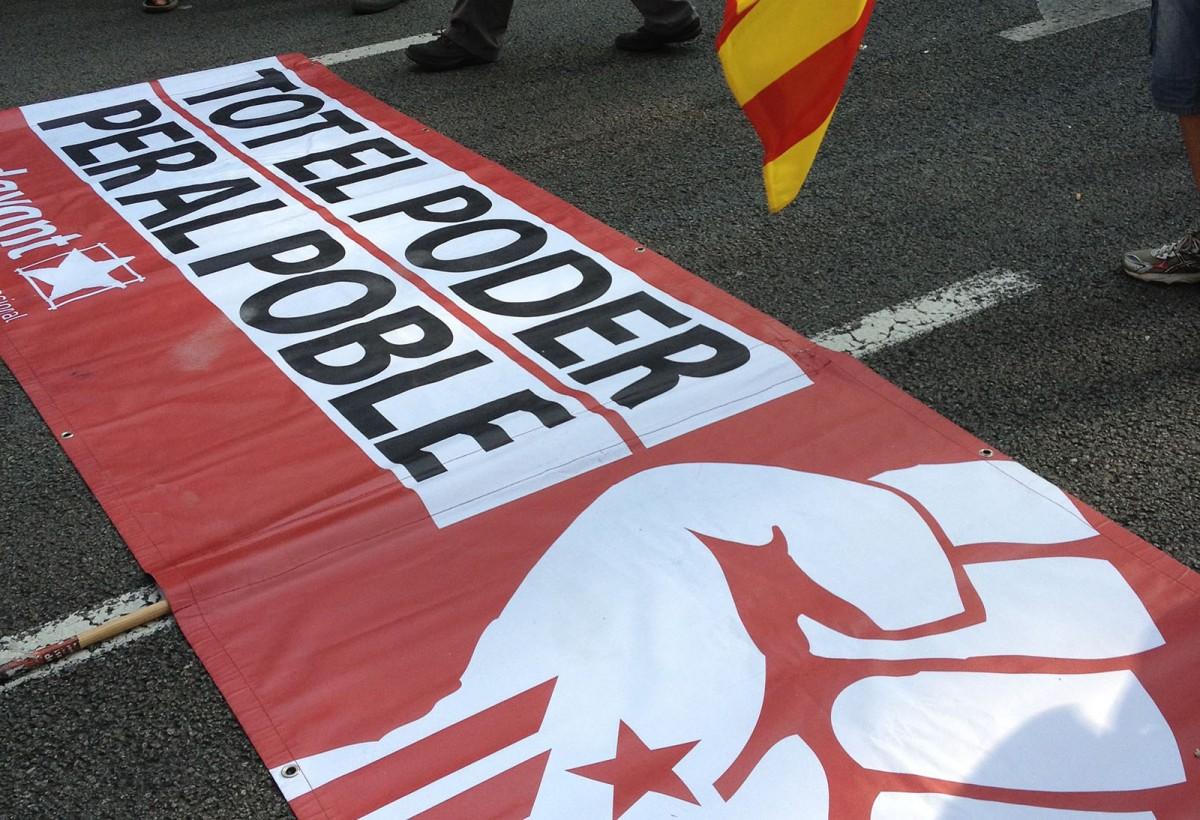 Pancarta a la manifestació de l'Esquerra Independentista de la Diada de 2012 a Barcelona