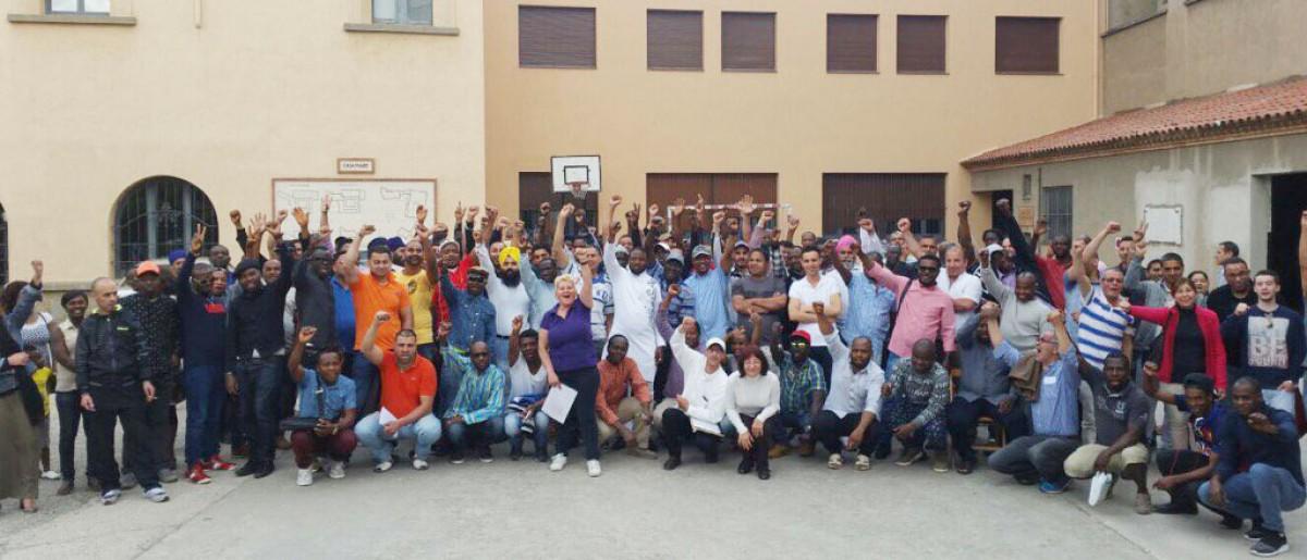 Assemblea de treballadors de TAIC i Clavial, el 20 de maig passat a Vic