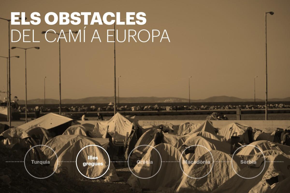 El pas per les illes gregues és el segon reportatge de Joan Mas sobre el periple que segueixen els refugiats camí d'Europa