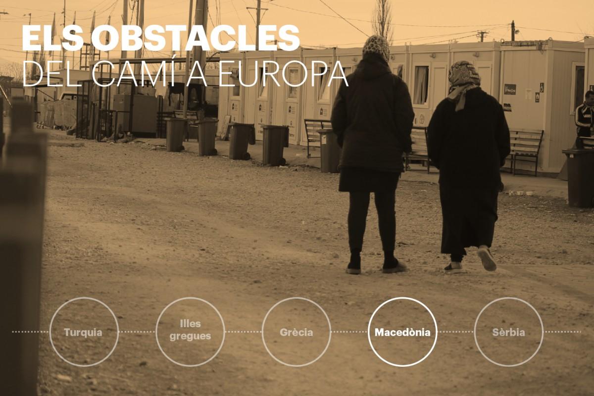 El pas per Macedònia és el quart reportatge de Joan Mas sobre el periple que segueixen els refugiats camí d'Europa