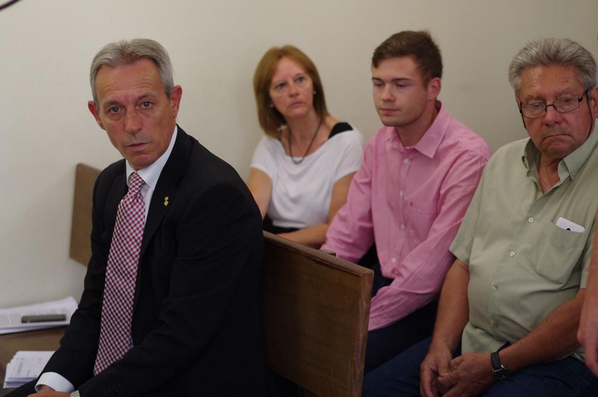 Josep Anglada, al judici que se li va fer l'11 de juliol a Vic