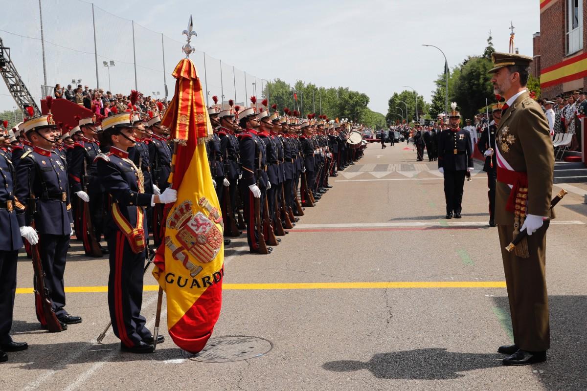 Felip VI durant un acte del Dia de les Forces Armades