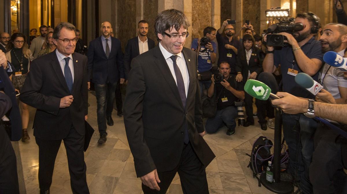Carles Puigdemont, al Parlament, el 10 d'octubre passat