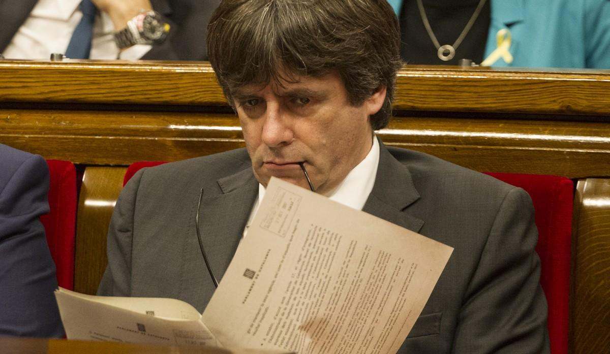 Carles Puigdemont, al Parlament, a la sessió històrica de divendres passat