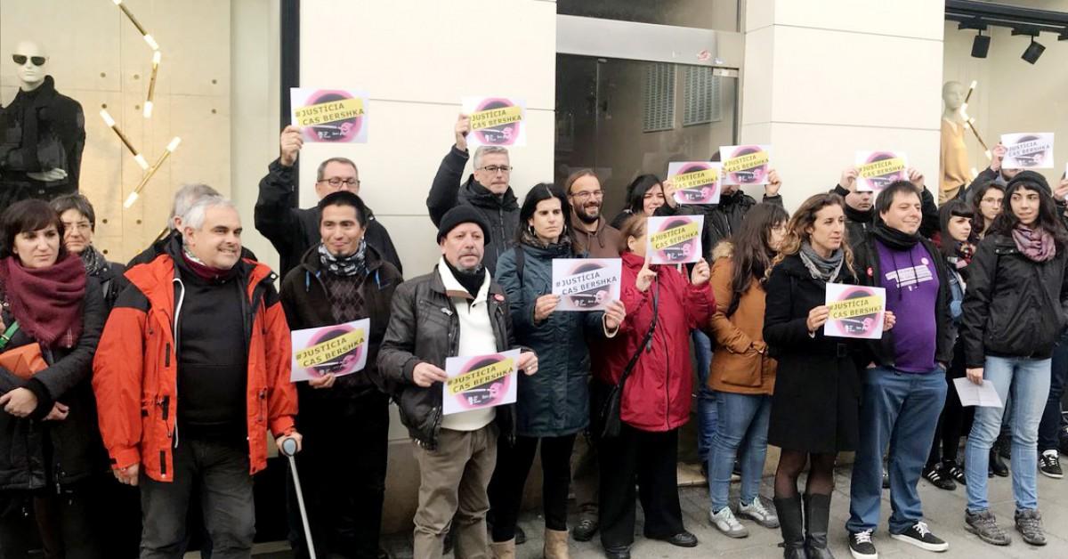 Protesta a Tarragona contra la sentència del 'cas Bershka'