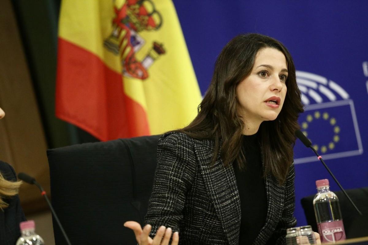 Inés Arrimadas, en una compareixença recent a Brussel·les