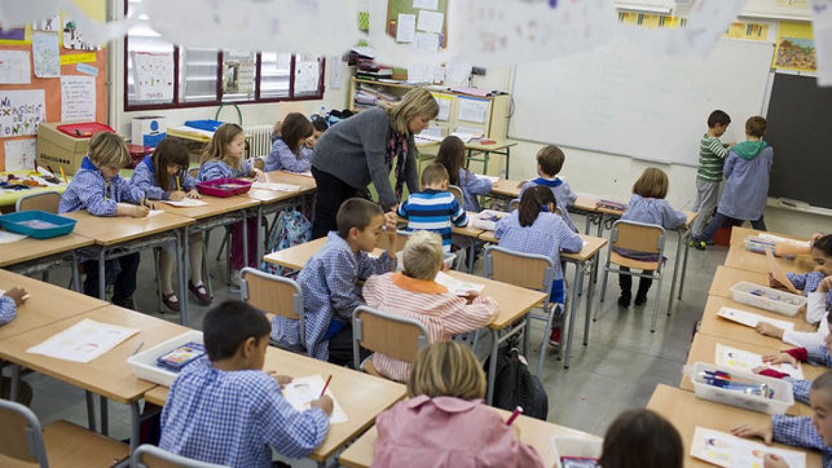 Classe a l'escola La Mar Bella de Barcelona