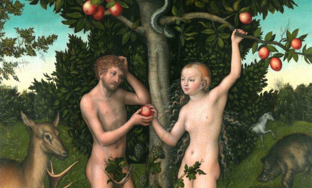 Representació d'Adam i Eva en una pintura de Lucas Cranach 'el Vell'