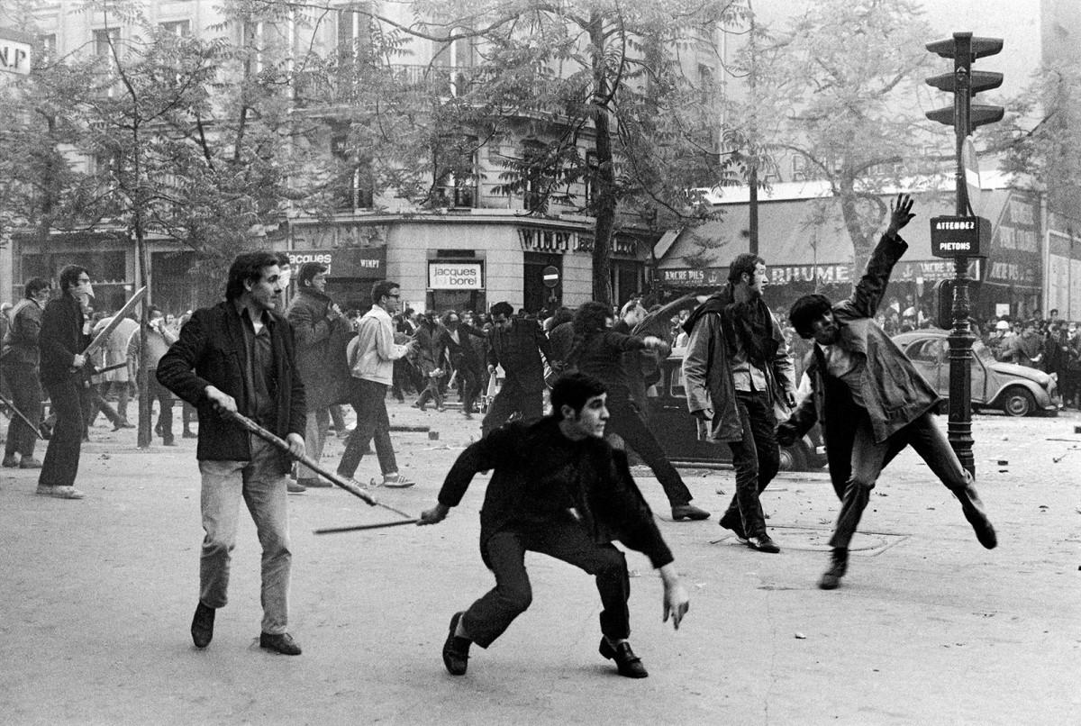 Protestes al Boulevard Saint Germain de París el 6 de maig de 1968