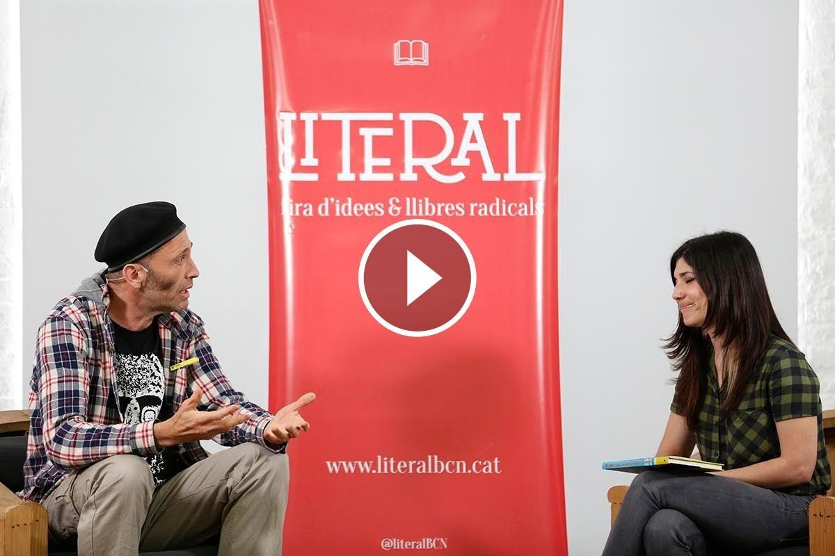 Entrevista a Asisko Urmeneta durant la Fira Literal, el passat 14 de maig