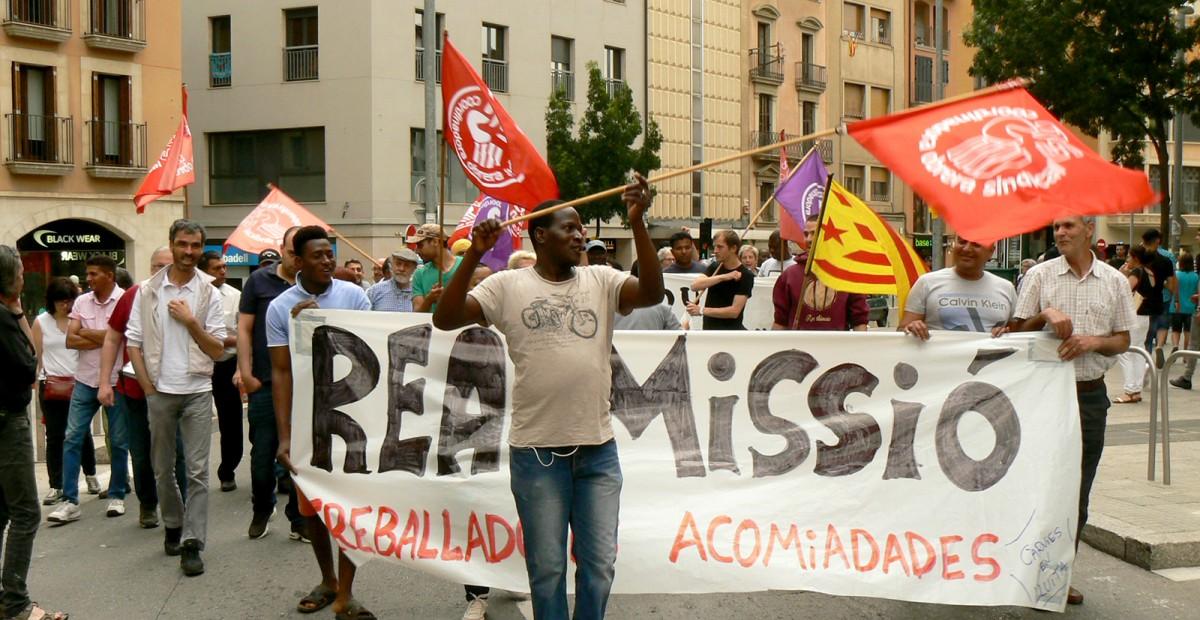 Manifestació de treballadors de Le Porc Gourmet a Vic, el 16 de juny passat