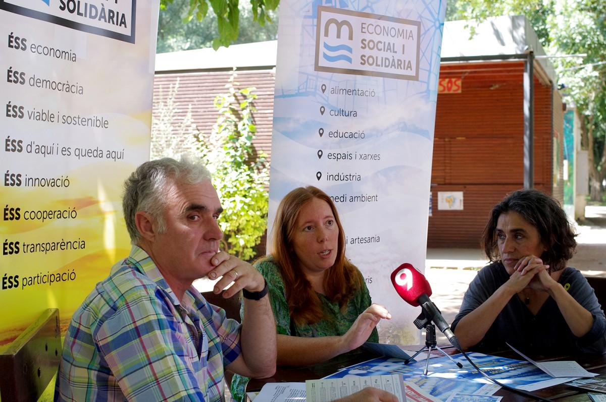 Manel Macià, Ginesta Mary i Betlem Parés, a la presentació de l'alTERna't 2018