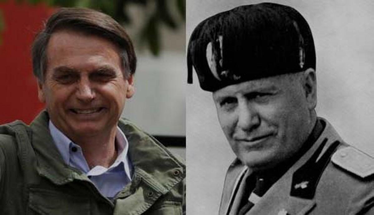 Jair Bolsonaro i Benito Mussolini