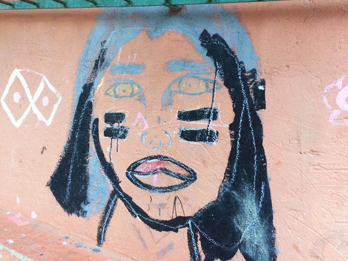 Expressió artística feta per l'alumnat de l'escola indígena guaraní del morro de Massiambú, al Brasil