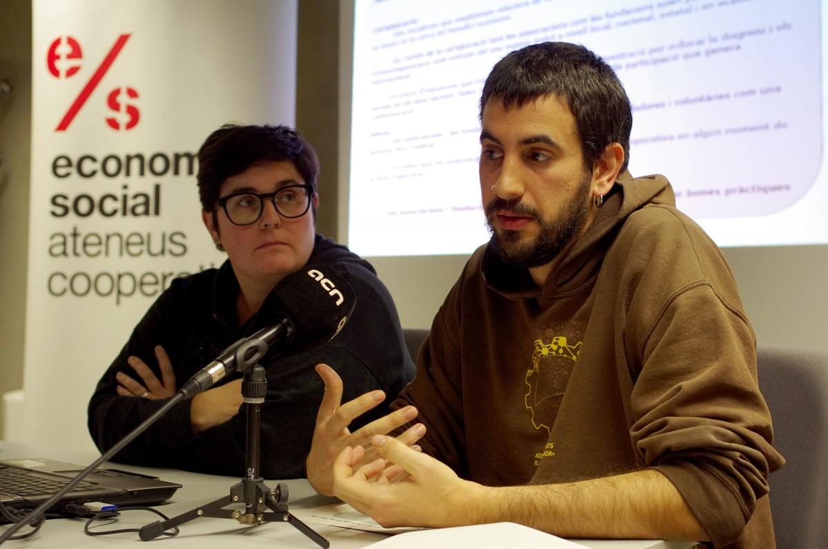 Alba Rojas i Jordi Bordes, a la presentació de la Diagnosi aquest dijous a Manresa