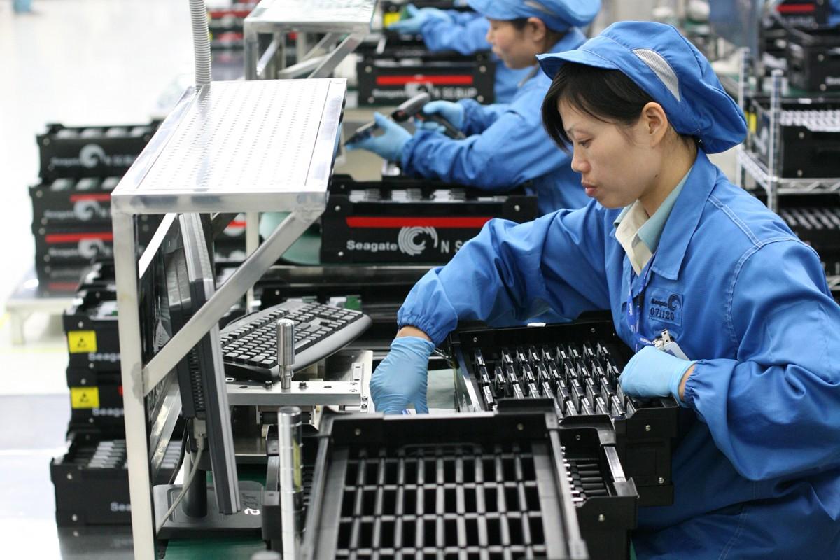 Fàbrica de la indústria electrònica a la Xina