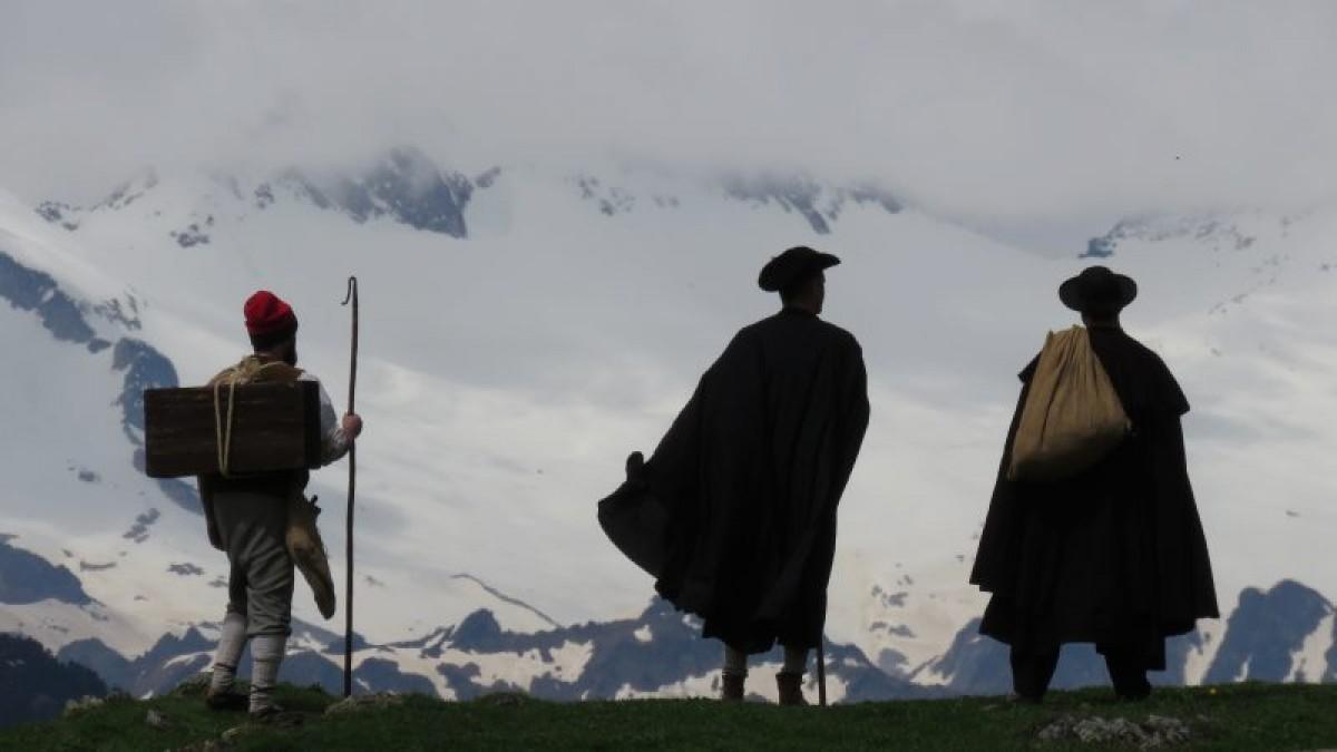 Una imatge de 'Maleïda', la pel·lícula sobre l'ascensió de Jacint Verdaguer a l'Aneto que estrenarà la Mostra d'aquest any a Osona