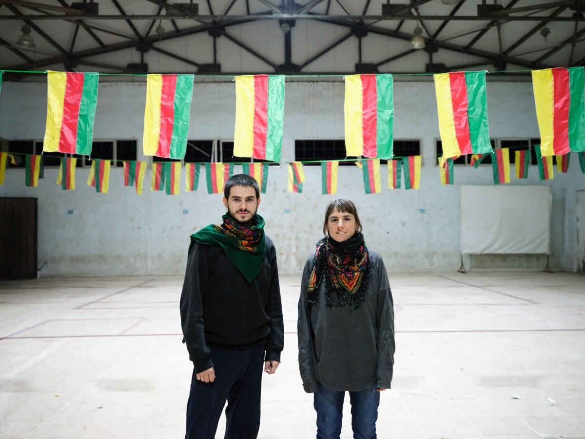 Ferran Domènech i Ariadna Masmitjà, aquesta setmana a Rojava