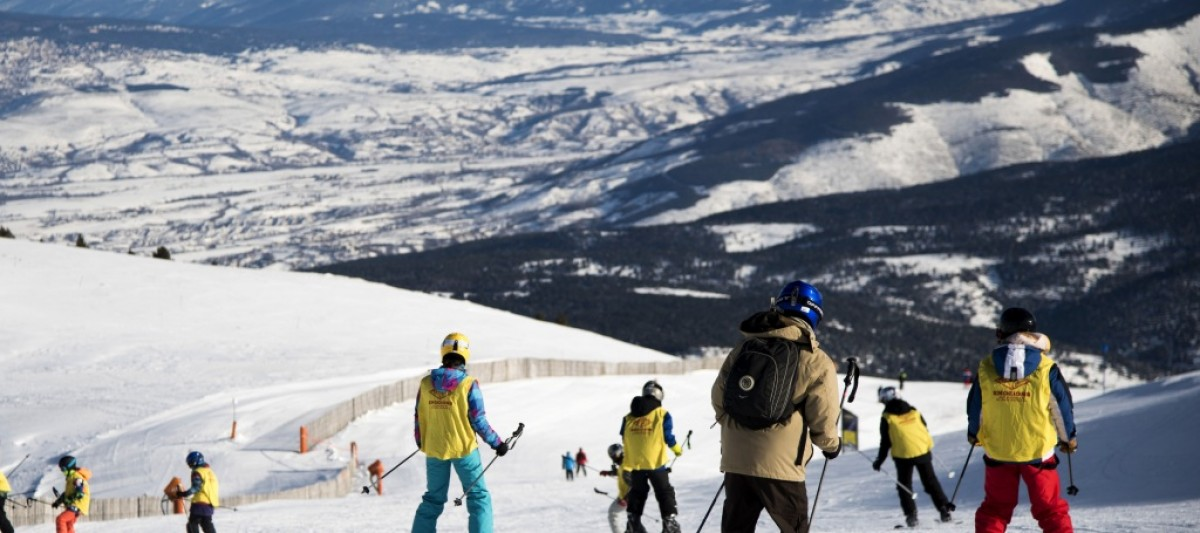 Esquiadors a l'estació de La Molina