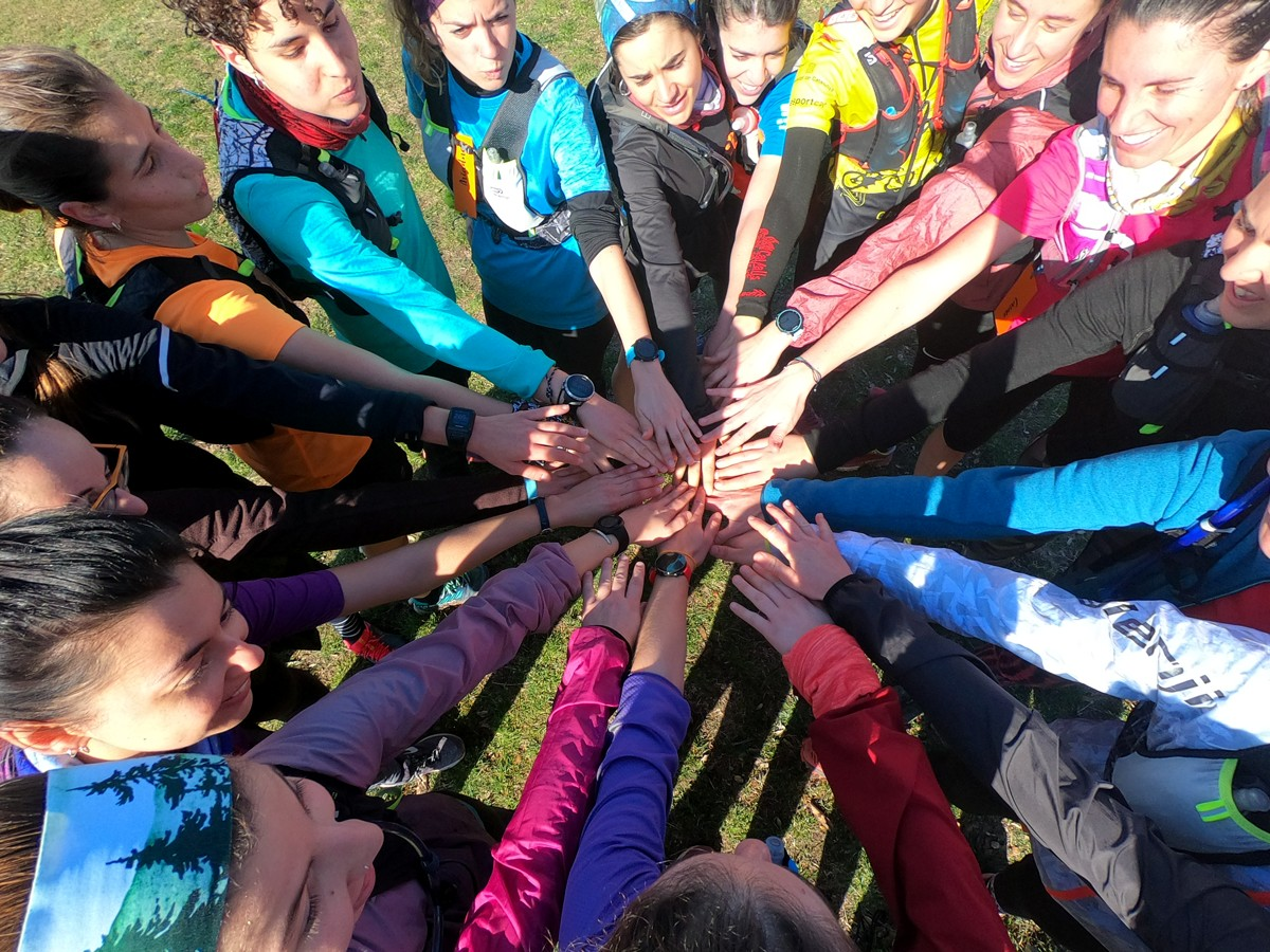 Es van organitzar dos grups de trail running que van pujar a Tagamanent