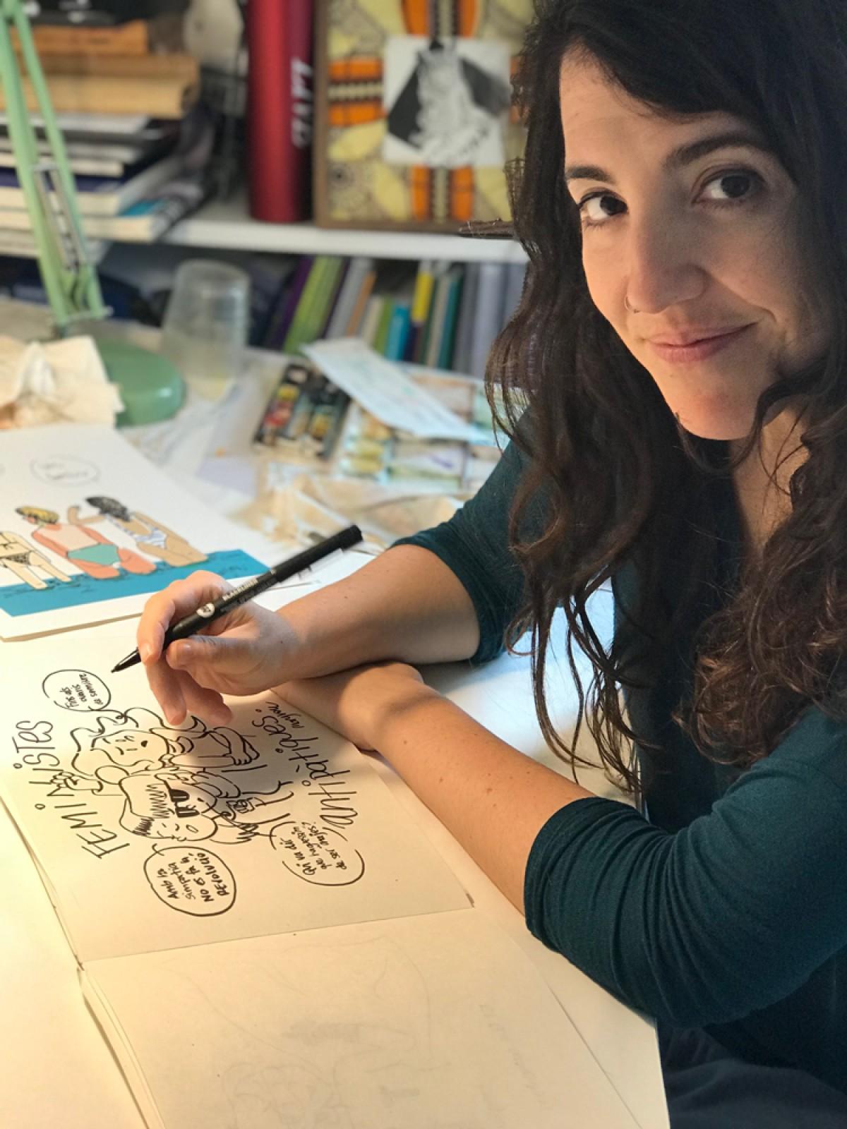 Maria Saladich és cirurgiana a l'Hospital General de Vic, però és també il·lustradora. En ple confinament per la crisi del coronavirus enceta una col·laboració amb Setembre