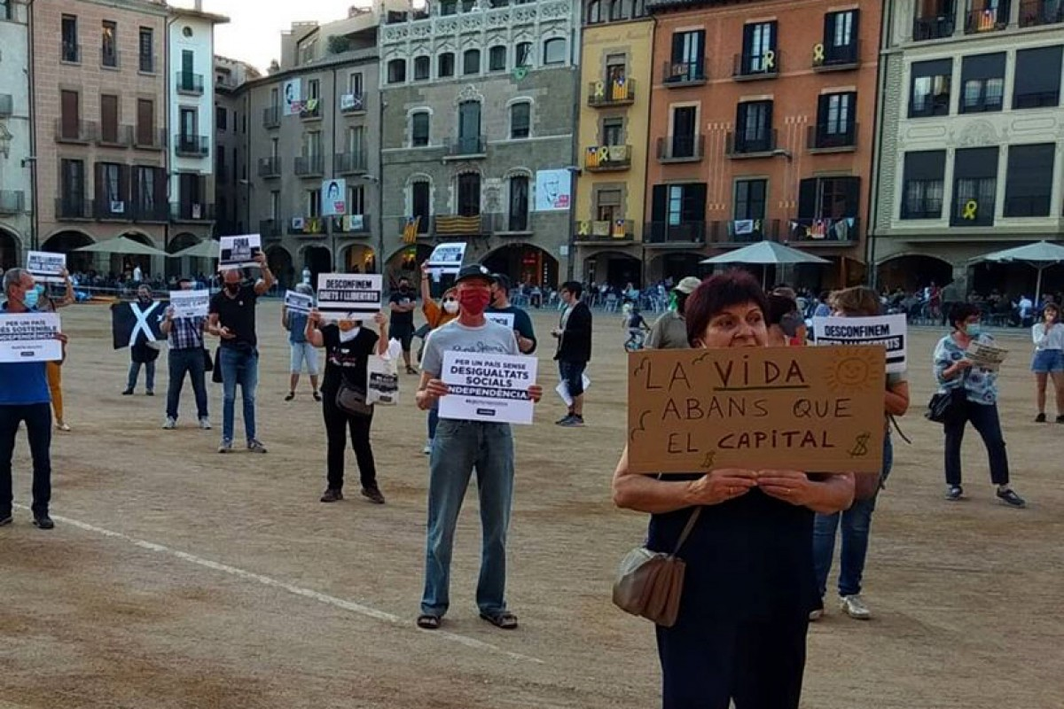 Concentració contra la repressió i pel dret de protesta, dimarts a la plaça Major de Vic