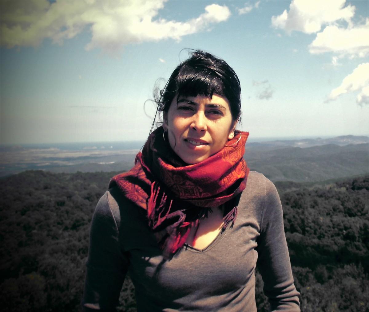 Annaïs Sastre és una de les sòcies treballadores de la cooperativa Arran de Terra
