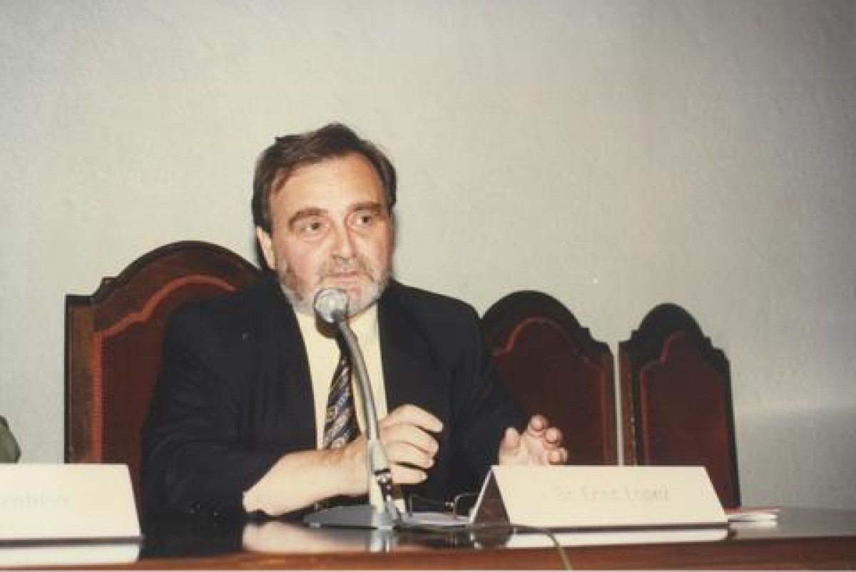 Enric López, a la inauguració de la Universitat d'Estiu de la UVic de 2003