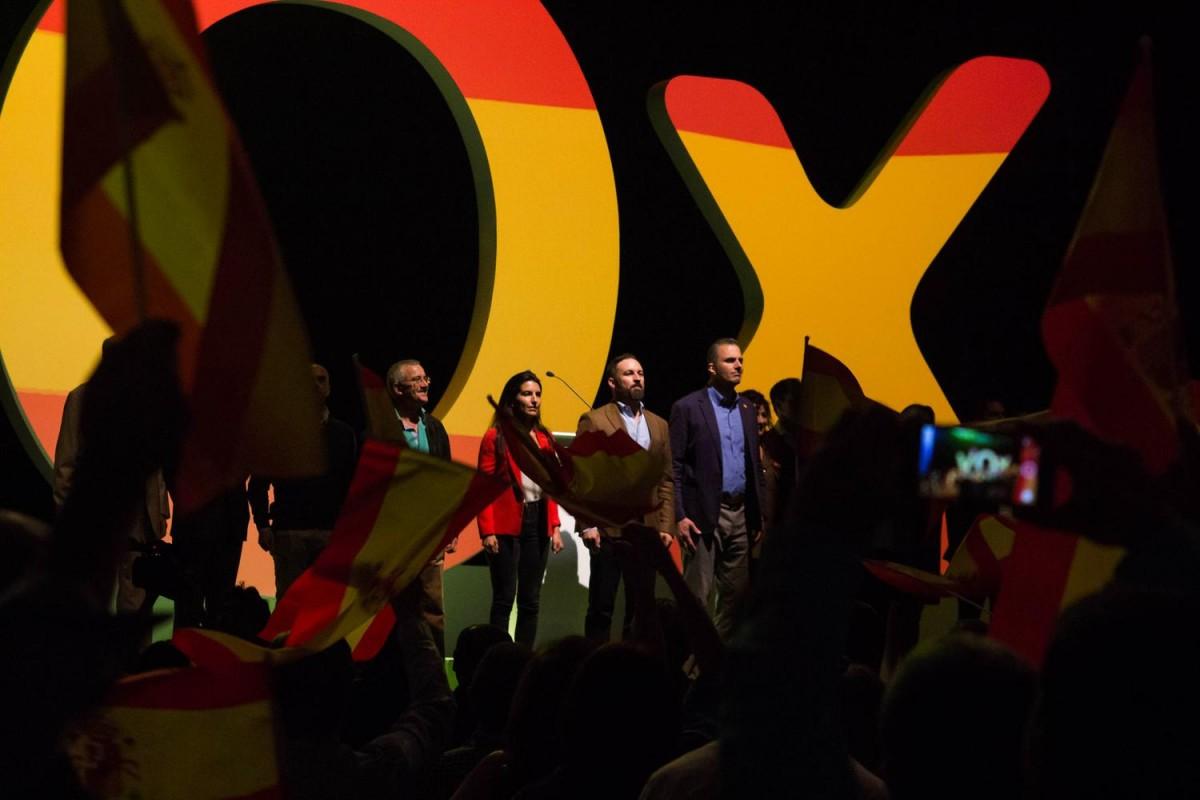 Dirigents de Vox en un acte del partit ultradretà