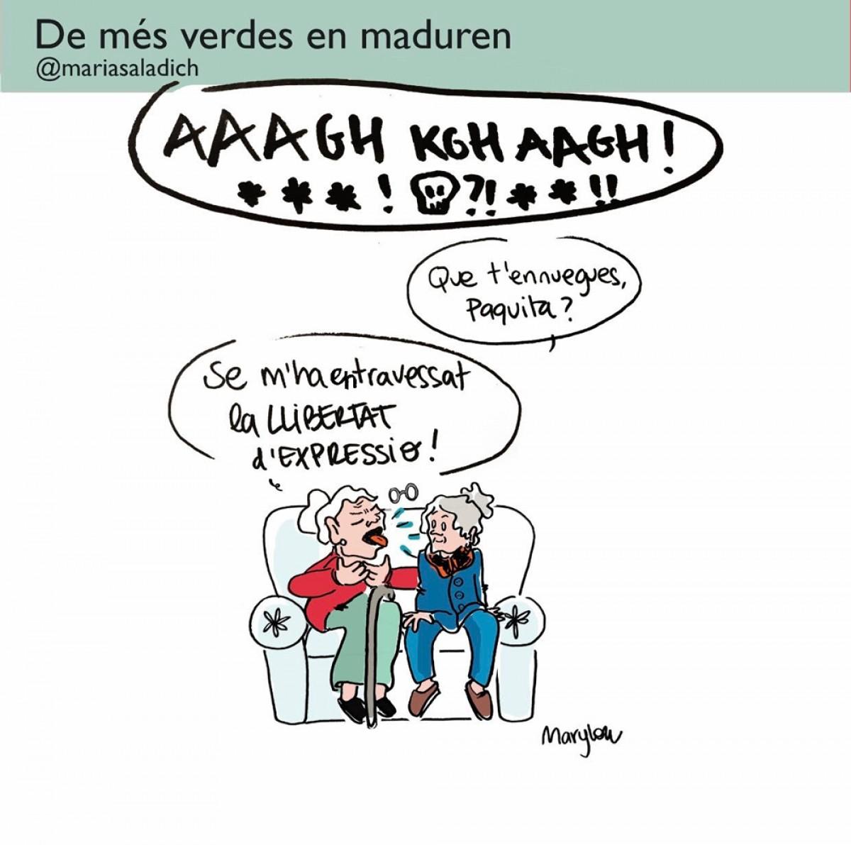Les iaies de la il·lustradora Maria Saladich tampoc se'n saben avenir de que el raper Pablo Hasel hagi estat empresonat