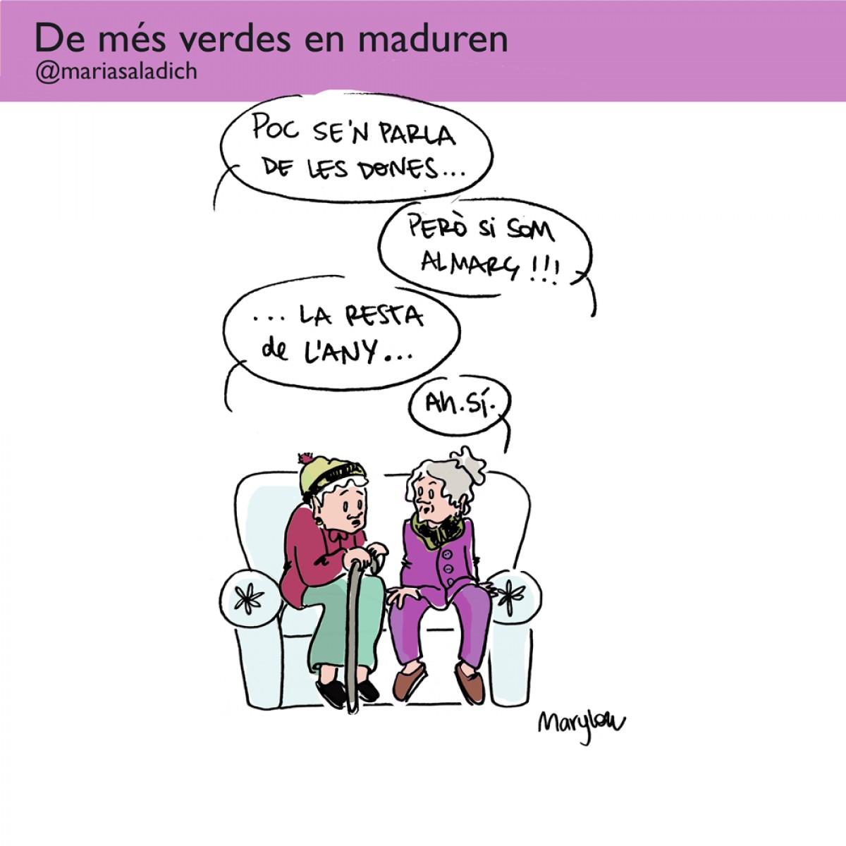 Poc se'n parla de les dones durant tot l'any, segons les iaies de la il·lustradora Maria Saladich