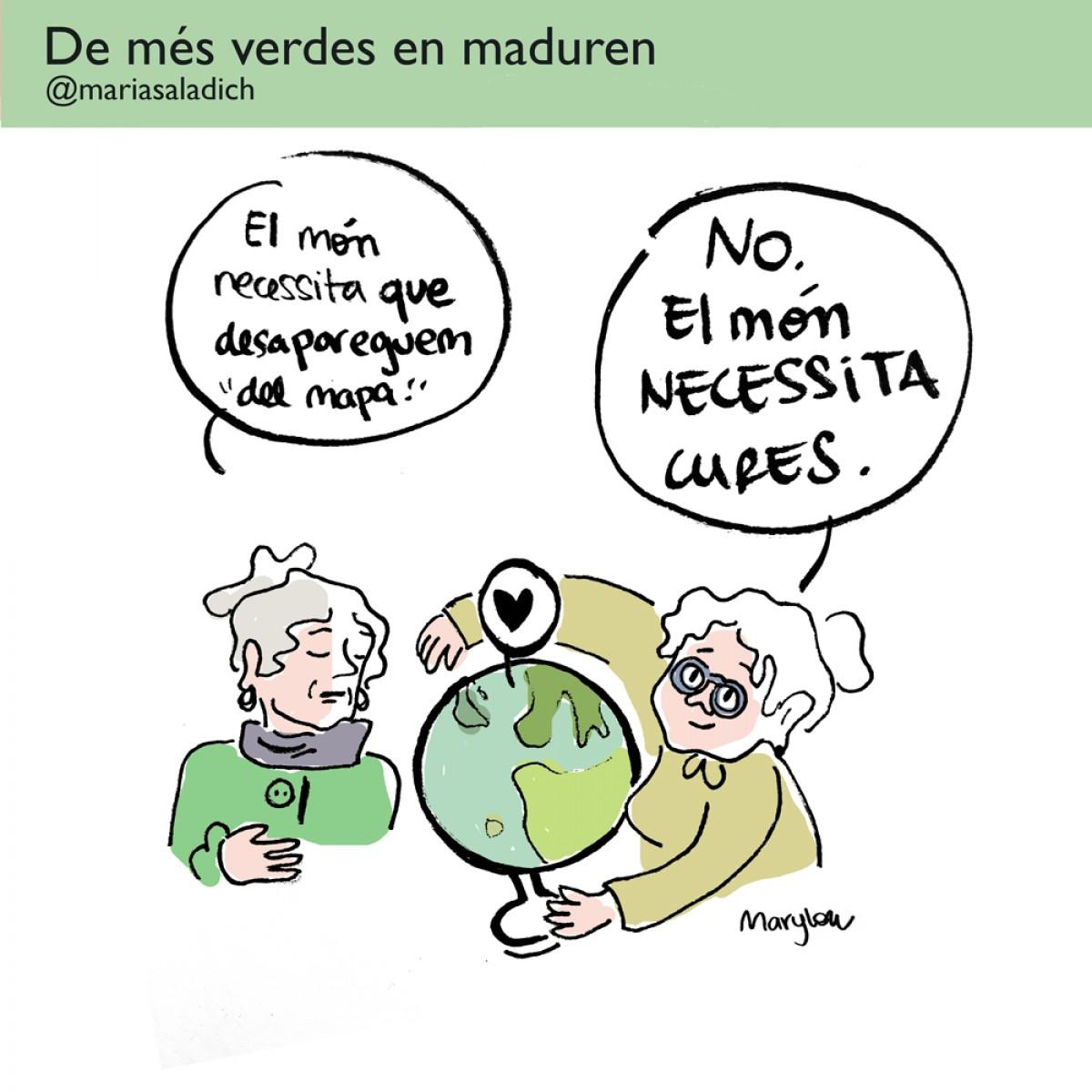 Segons les iaies de la il·lustradora Maria Saladich el món necessita més cures