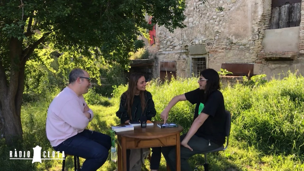 D'esquerra a dreta: Toni Ferron, Irene Solà i Francesc Garcia