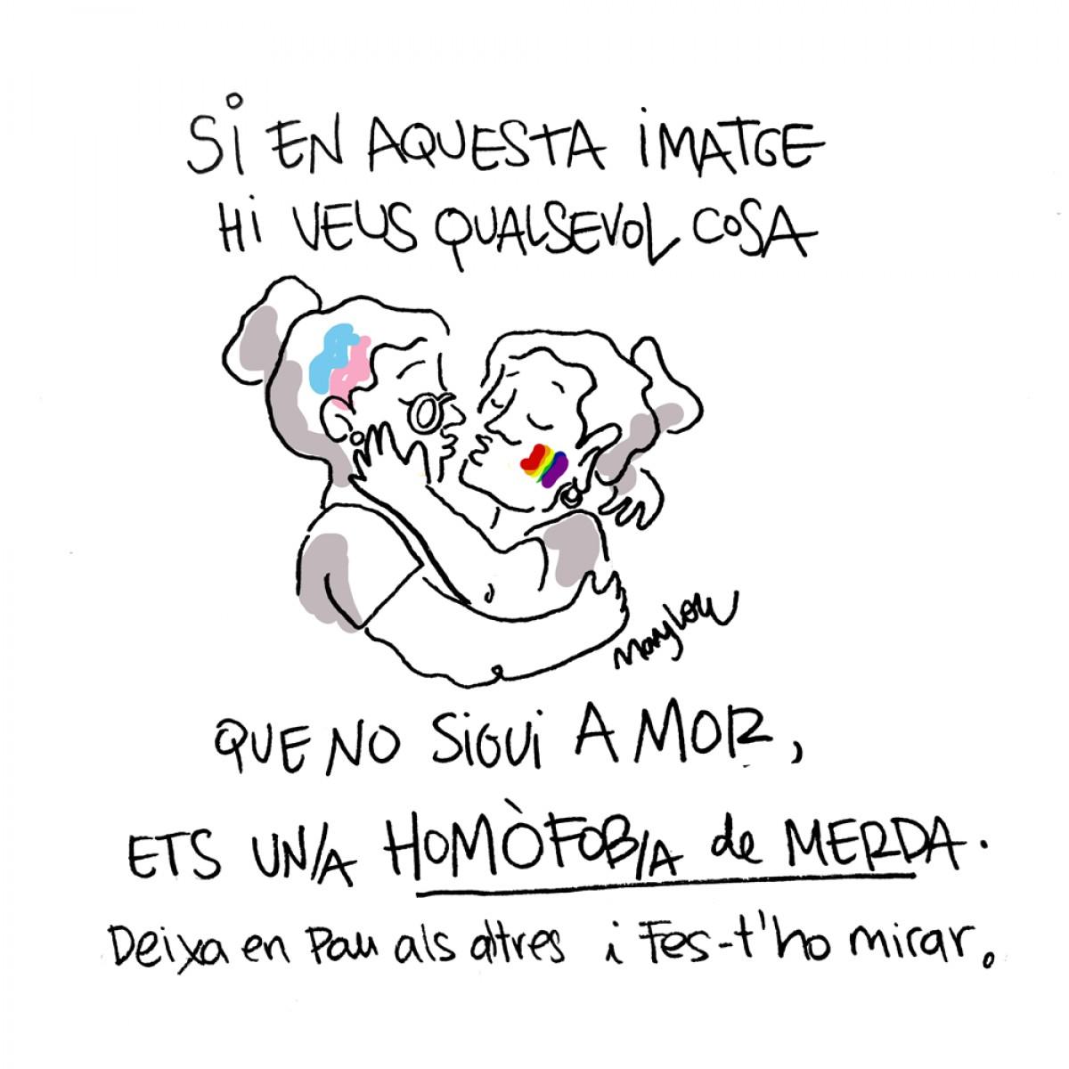 Les iaies reivindiquen l'amor en una setmana marcada per les agressions homòfobes