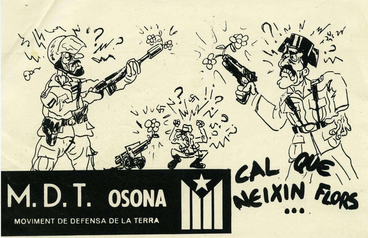 Adhesiu contra les forces d'ocupació del Moviment de Defensa de la Terra (MDT) d'Osona de l'any 1986
