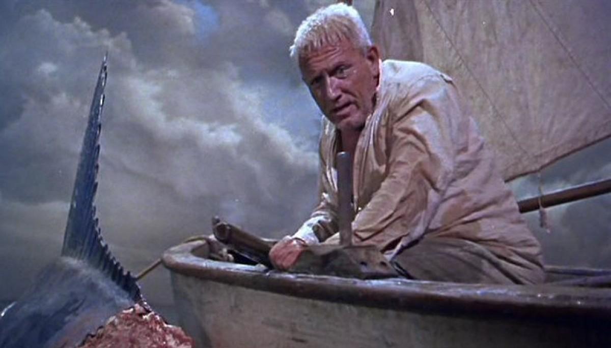 Spencer Tracy, en una escena de la versió cinematogràfica d''El vell i el mar' de 1958