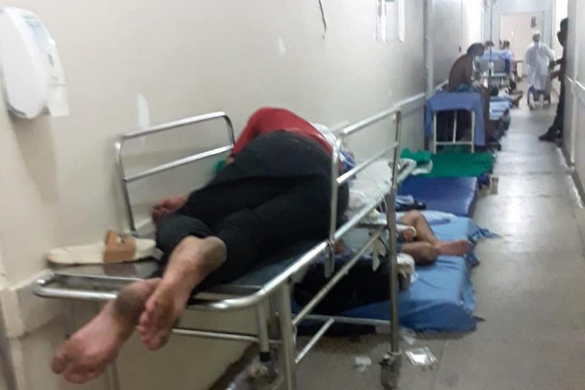 Un passadís de l'hospital de Porto Velho on està ingressat Z., català resident al Brasil, que ha explicat la situació caòtica que es viu al centre